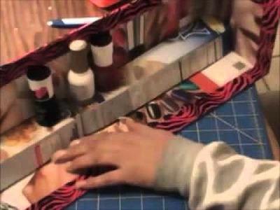 Manualidad: Organizador de esmaltes, con escalones.