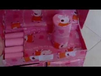 Manualidades Organizador de carton Peppa pig