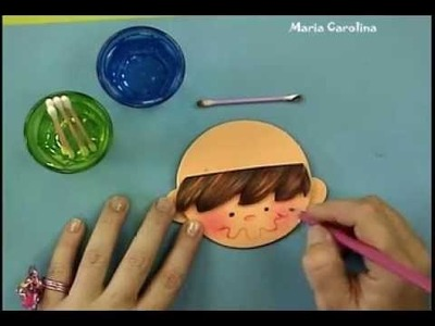 Maria Carolina Rugero Cotillon de varon en foamy Tecnica creyon 1.2