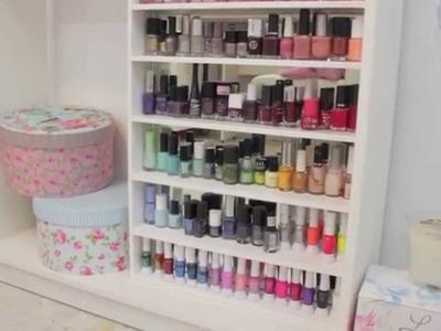 Organizador de esmaltes DIY