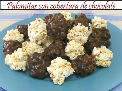 Palomitas con cobertura de chocolate