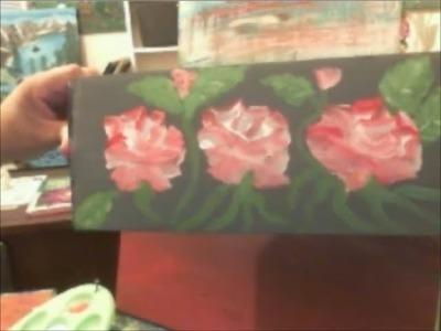 Pintando y reciclando carton