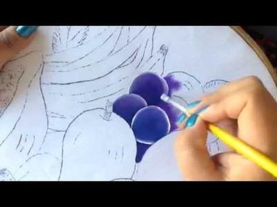 Pintura en tela frutero # 1 con cony