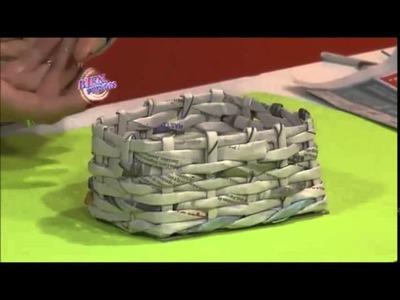 SIlvina Buquete - Portamacetas rústico en cestería