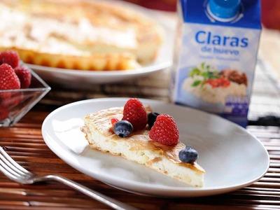 Tarta de queso al horno con frutos rojos - Postre fácil de preparar