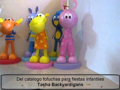 TASHA BACKYARDIGANS FOFUCHA EN FOAMI O GOMA EVA PARA DECORACION DE FIESTAS INFANTILES