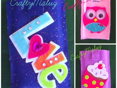♥Tutorial:♥Funda para móvil celular iPod de fieltro