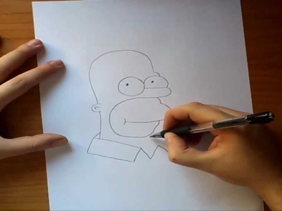 Como dibujar a Homer paso a paso - Los Simpsons | How to draw Homer - The simpsons