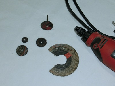 Como hacer discos de corte para minitorno How to make homemade discs Cutting multipro rotary tool