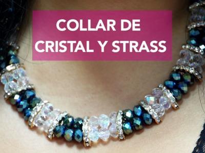 Como hacer un Collar con Cristales y Strass : Pekas Creaciones