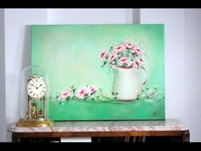 Como Pintar al Oleo en Pocos Pasos - Still Life - Jarron con Flores -Claudia Kunze