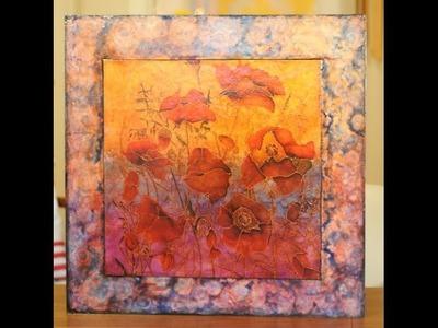 Como Pintar  cuadros - Pintura sobre Seda - Tecnica Mixta