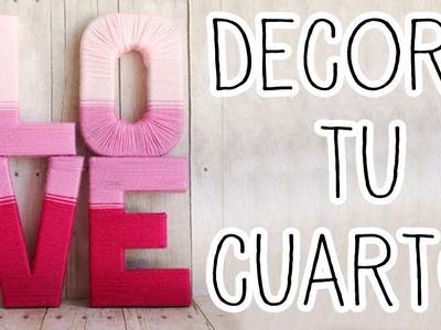 Decora tu cuarto con letras 3D, fácil y rápido - Tutoriales Belen
