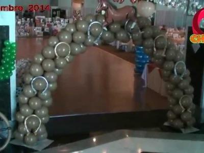 Decoracion de vaqueros globos chasty