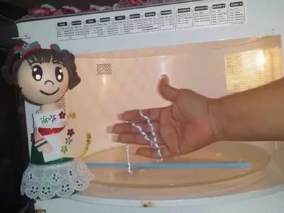 DIY Como Ondular liston en   microondas para moños
