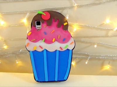Manualidades faciles: forro de celular o movil en forma de cupcake con foami o goma eva | Isa ❤️