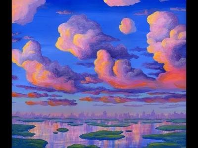 Pintar Nubes Al Atardecer 1 Tormentas Electricas