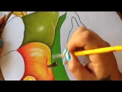 Pintura en tela frutero # 6 con cony