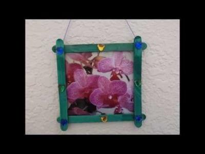 Portaretratos con palitos de paletas - Creative Flower
