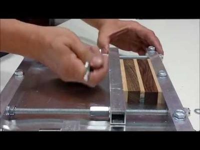 Prensa casera para madera