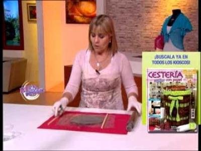 Silvina Buquete - Bienvenidas TV - Realiza un portavelas con base de cemento