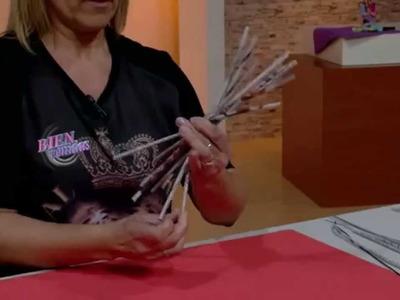 Silvina Buquete - Bienvenidas TV en HD - Crea un portavelas en cestería.