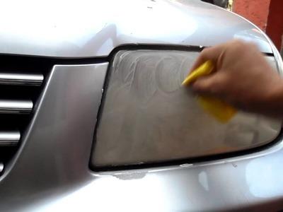 TUTORIAL, COMO PULIR FAROS DE AUTO PROFESIONALMENTE EN SEGUNDOS