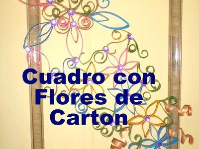 Tutorial: Cuadro con Flores de Rollos de Papel Higienico (con invitada especial!)