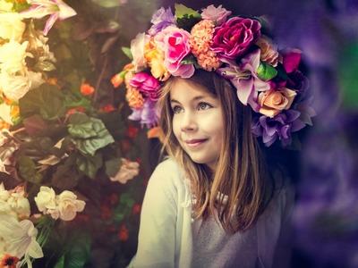 Tutorial: Manualidad - Coronas de flores sencillas