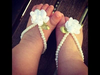 Adornos De Pies Con Perlas Preciosas Para Bebés - Baby Diva Designs