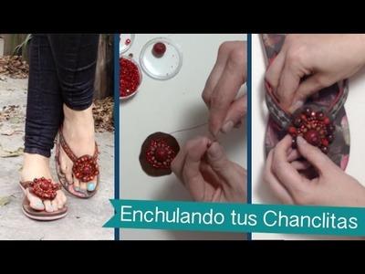 Chuladas Creativas :: Enchulando Chanclitas parte 2 :: Manualidades Sammily Tabata Jalil