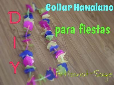 Collar hawaiano -para fiestas- DIY- manualidades