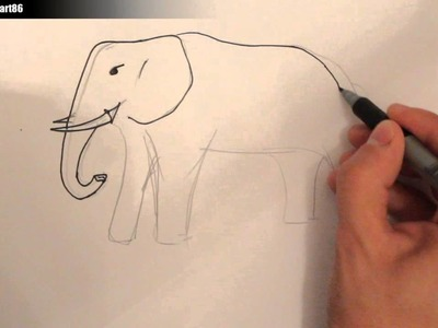 Como dibujar un elefante paso a paso