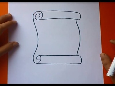 Como dibujar un pergamino paso a paso | How to draw a scroll