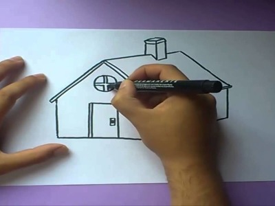 Como dibujar una casa paso a paso  | How to draw a house