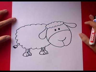Como dibujar una oveja paso a paso | How to draw a sheep