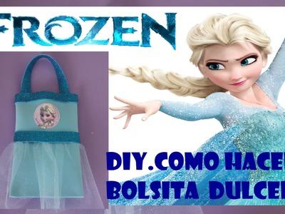 DIY.COMO HACER DULCERO BOLSITA ELSA  FROZEN