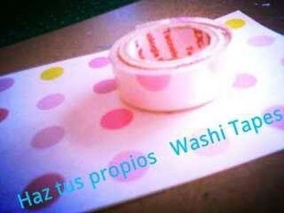 ♥DIY ♥Haz tus Washi Tapes-Sin cinta doble cara♥