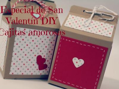 Especial de San Valentin 2015 - Como hacer cajitas de leche para regalar