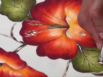 Flor de Cucarda Pintada en Tela (2.2)