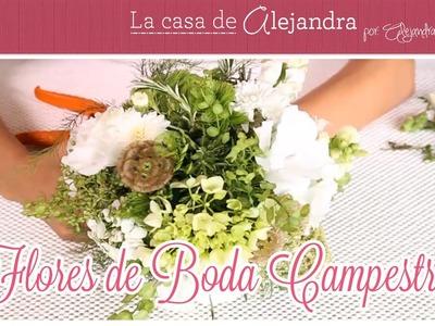 Flores de Boda Campestre DIY Alejandra Coghlan