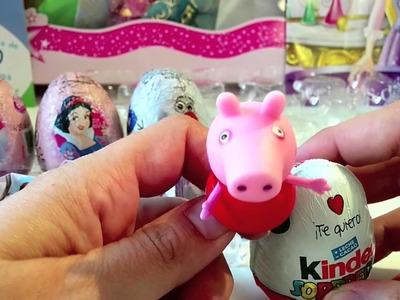 Huevos sorpresa de princesas disney, frozen y kinder sorpresa