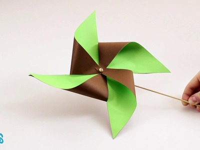 Molinillo de papel bicolor (Hellokids)
