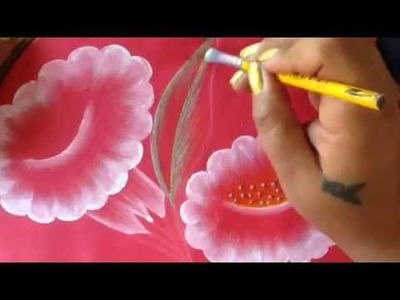Pintura en tela campanillas blancas con cony