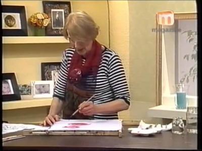 Pintura sobre Seda, técnica con parafina - Taller Elke