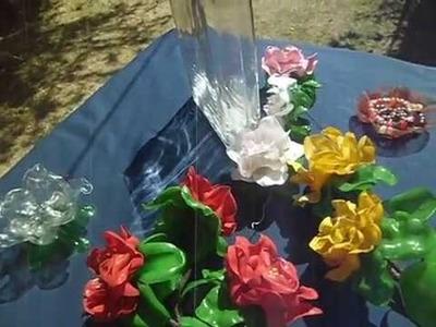 TUTORIAL (02)ARREGLO ROSAS DE BOTELLAS DE PLASTICO