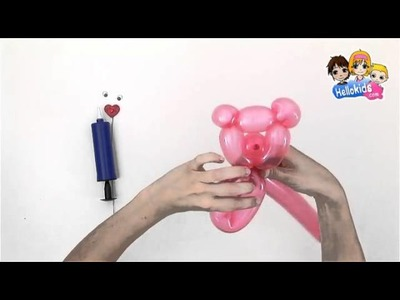 Video de como hacer un OSO GLOBO - Videos de como hacer ANIMALES CON GLOBOS (Hellokids)