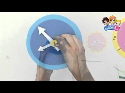 Video de fabricar un reloj para aprender a leer la hora - Videos de manualidades VUELTA AL COLE