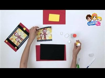 Video manualidades portaretrato SUPER PAPA dia del padre (Hellokids)