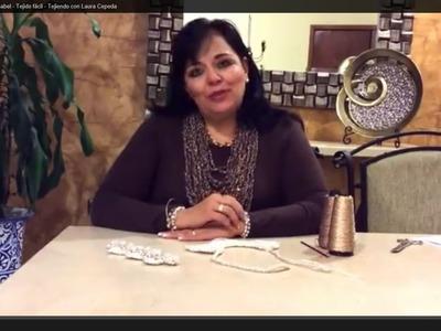 Collar tejido con cadenitas - Regalo para el 14 de feb - Tejiendo con Laura Cepeda